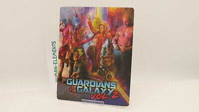 GUARDIANS OF THE GALAXY 2 - Lenticular 3D Flip Magnet Cover FOR bluray steelbook