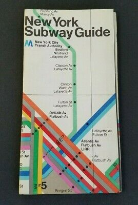 Massimo Vignelli 1972 Nyc Subway Map.Vintage New York City Transit Subway Map 1972 Massimo Vignelli Nycta