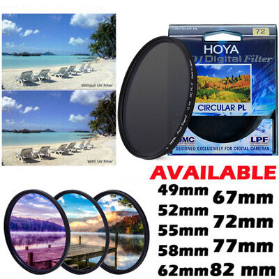 Hoya Pro1D Digital MC 49/58/67/72/82mm HD B+W HMC UV(C) PL-CIR CPL Lens Filter