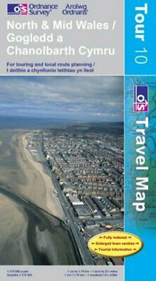 North and Mid Wales (OS Travel Map - Tou... by Ordnance Survey Sheet map, folded
