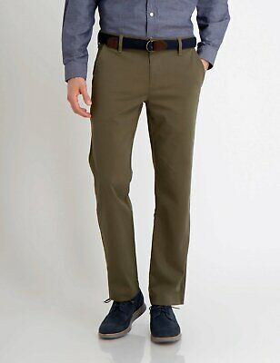 US Polo Assn Olive Green Men's Tapered Trousers Chinos Khaki Pants SZ30