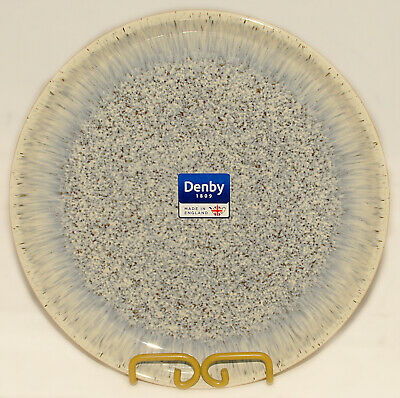 """DENBY - Blue Gray Cream Brown  HALO - Speckled Coupe DINNER PLATE 10"""" *BRAND NEW"""