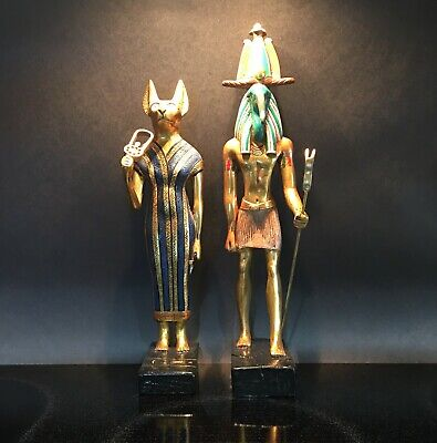 AGI ~ Ancient Egyptian Statues Gods: BAST (E232) & THOTH (E217), Kemetic!