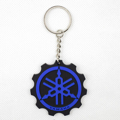 blue YAMAHA Rubber  Keychain  Motorcycle Key pendant Collectible Gift