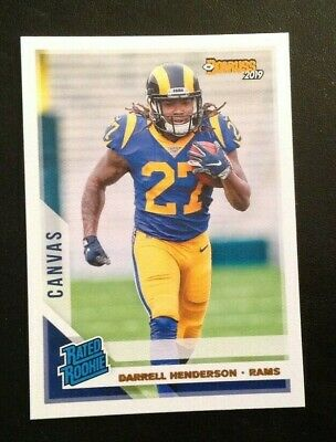 2019 Panini Donruss CANVAS Rated Rookie DARRELL HENDERSON Rams RC #310
