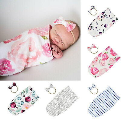 Newborn Baby Floral Sleeping Bag Boy Girl Crib Blanket Swaddle Wrap Sleepsacks