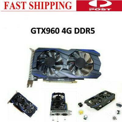 GTX960 4GB DDR5 Computer Independent Gaming Video Graphics Card Dual Fan AU