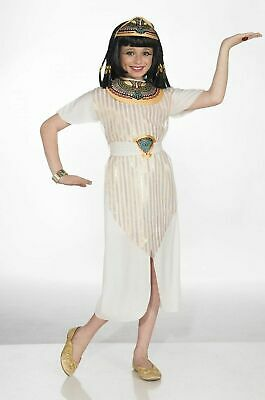 Child Girls Cleopatra Ancient Egyptian Queen Dress Halloween Cute Costume SIZE L
