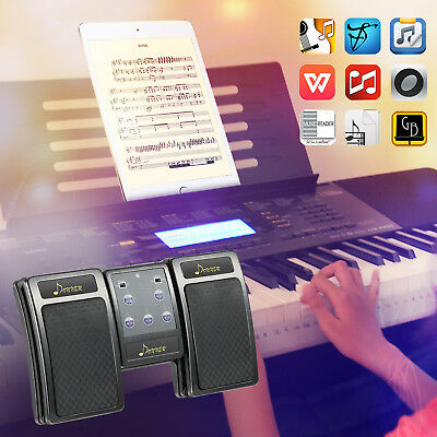 Donner Bluetooth Page Turner Pedal for Lyrics Tablets Rechargeable Controller
