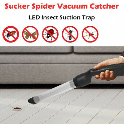 """Insect Suction Trap Catcher Fly Bug Spider Vacuum Buster Pest Control LED 17"""""""