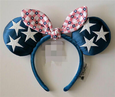 Disney Parks All American Girl Americana 4th of July Minnie Mouse Ears Headband