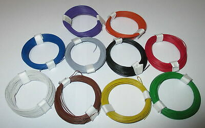 (0,1695 €/ M) Stranded Wire Extra Thin 0,04 mm ² 10 Rings a 10 Meter New