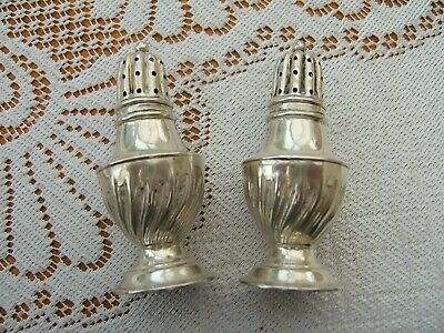 Antique Pair Of Small Silver  Pepperettes.....hallmarked Birmingham 1899..