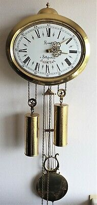 Jewellers Wall Clock Comtoise Style Dutch Made, Rousset a' Bellefontaine