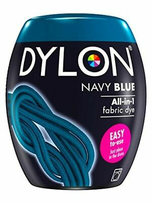 DYLON Washing Machine Dye Pod Navy BLUE 350G Permanent Dyes-up Fabric Powder NEW