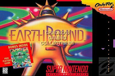 Earthboundt  SNES Super Nintendo NTSC USA Version Video Game New
