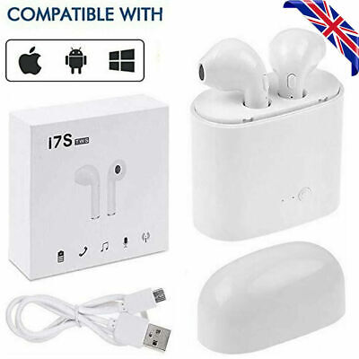 I7S TWS Wireless Earphone White Bluetooth Phonepods Sports Earbud Headphones