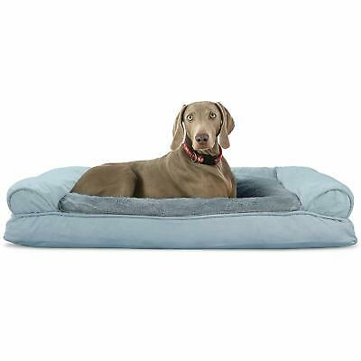 Furhaven Pet Dog Bed | Ultra Plush Faux Fur and Suede Pillow Cushion Sofa-Style