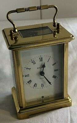 Vintage Bayard 8 Day French Brass Carriage Clock - Working Order