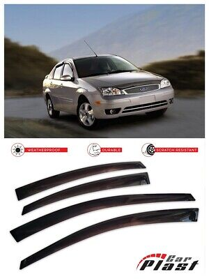 Rain Guards Visor 2pc Deflector Ford Focus 2008-2011 2 Door Coupe Only S SE SES