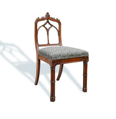 Rare Victorian Gothic Revival Strawberry Hill style Chair - Liberty Fabric