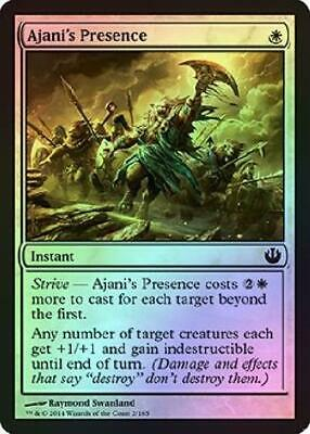 MTG NM//M Ajani/'s Presence White Instant Common Journey Into Nyx