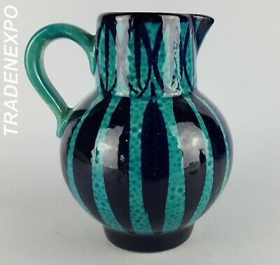 1970s Vintage SCHEURICH KERAMIK Blue Vase West German Pottery Fat Lava Era