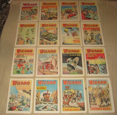 Lot of 16 x Vintage Issues THE WIZARD Comic 1972