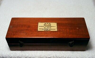 SIKES HYDROMETER Blake London Scientific Instrument Wood Box Weights Thermometer