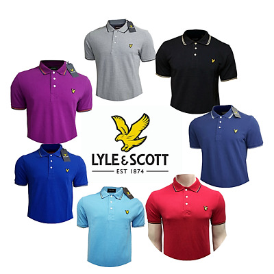 LYLE & SCOTT  Men's Short Sleeve Tipped Polo Shirts | New with Tag | Discounted