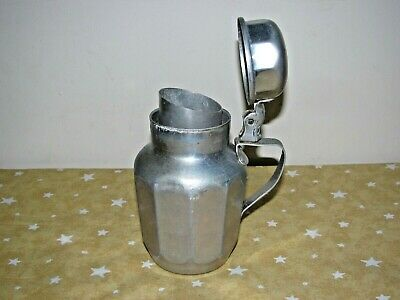 "vintage  6"" VIKO popular aluminum spring lid handle small pitcher syrup gravy"