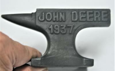 Reproduced Salesman's Sample - Small J.DEERE 1937 ANVIL - Jewelry - paper weight