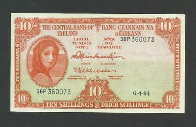 Central Bank Of Ireland   10 Shillings    1964   Lady Lavery