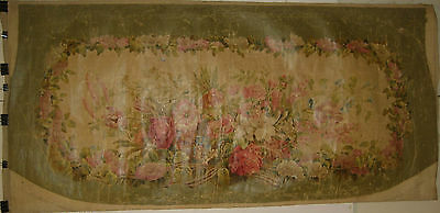 Antique Beautiful 19th C. French Oil Painting for Aubusson (9045)