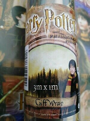 Rare Harry Potter & the Philosopher's stone wrapping paper large 3m x 1metres