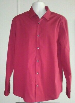 Alfani Mens Size XL Red Dress Shirt W/Long Sleeves.New Without Tags.