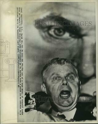 1963 Press Photo Canada's Prime Minister John Diefenbaker at Political Rally