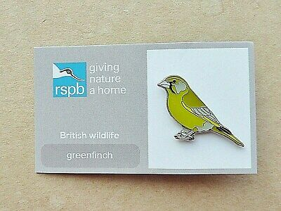Rspb Pin Badge Greenfinch  Giving Nature A Home British Wildlife