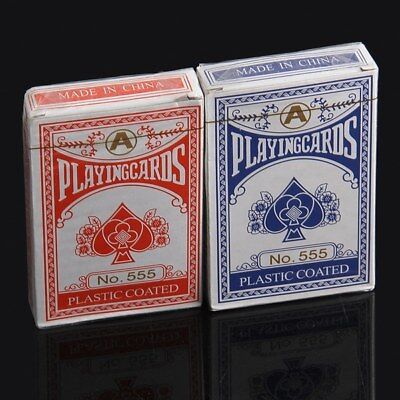 Professional Plastic Coated Playing Cards Poker Size-uk seller