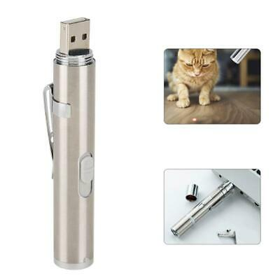 2 in1 USB Rechargeable Mini Red Laser Pointer Pen with White LED Light Torch Toy