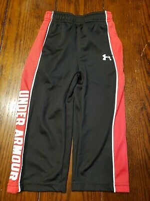 Under Armour Toddler Boy Pant 2T  Black/red Color