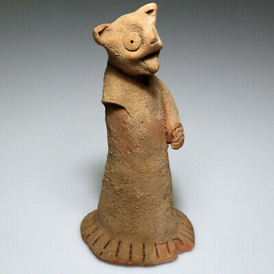 Very Interest Ancient Unusual Unknown Culture Terracotta Idol Statue