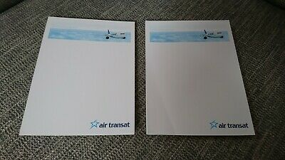 2x Air Transit Airways notepads Canada commercial airline plane British seller