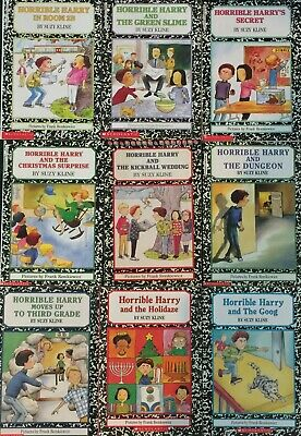 "Lot Of 9 ""Horrible Harry"" Books By Suzy Kline"
