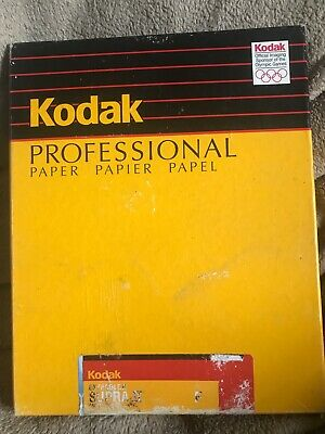 Kodak Ektacolor Supra II F RA type 2839 8x10 Paper 80+ct old stock.