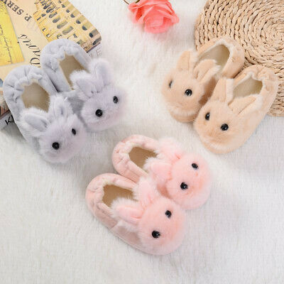 Toddler Child Kid Baby Winter Shoes Boy Girl Cartoon Soft-Soled Slippers Shoes U
