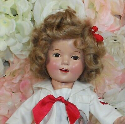 "13"" SHIRLEY TEMPLE Ideal doll 1930's COMPOSITION Sailor outfit Captain January"