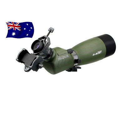 SV14 25-75x70mm 45° Angled Zoom Spotting Scope Porro FMC BAK4 +phone adapter AU
