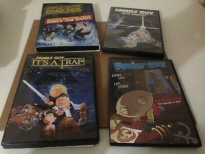 Family Guy Star Wars 4x DVD Lot Something Darkside Blue Harvest Its A Trap more!