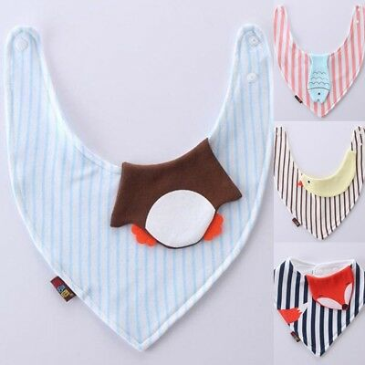 Cute Cotton Baby Saliva Towel Infant Feeding Bibs Bandana Triangle Scarf Cloth